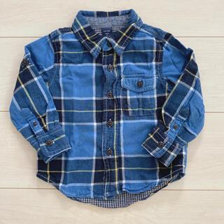 ベビーギャップ(babyGAP)のbaby gap  チェックシャツ 90(ブラウス)