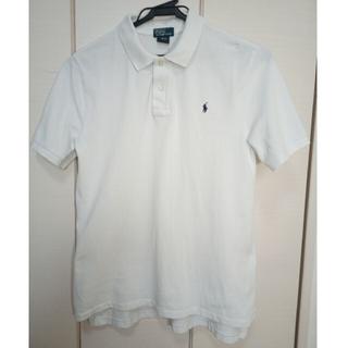 POLO RALPH LAUREN - ポロラルフローレン 白 ポロシャツ Lサイズ 綿100%