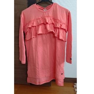 エフオーキッズ(F.O.KIDS)のF.O.KIDS 胸フリルチュニックシャツ 140cm(Tシャツ/カットソー)