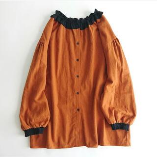 SM2 - サマンサモスモス 配色襟フリルブラウス SM2 エヘカソポ オレンジ ハロウィン
