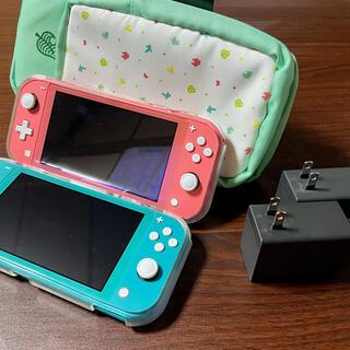 任天堂 - Nintendo Switch lite 美品2色 +ショルダーバッグ付き