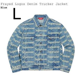 シュプリーム(Supreme)のL Supreme Frayed Denim Trucker Jacket(Gジャン/デニムジャケット)