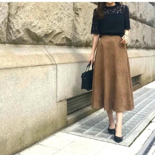 M-premier - 昨季 Mプルミエ スエードスカート 美品 36