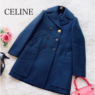 セリーヌ(celine)の♡CELINE♡ セリーヌ ピーコート フィービー ネイビー サイズ36(ロングコート)