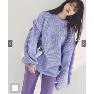 GRL - GRL ニット トップス パープル 紫