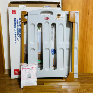 ニホンイクジ(日本育児)の日本育児 オートマチックゲイト 箱あり(ベビーフェンス/ゲート)