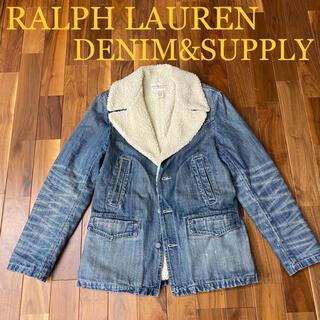 デニムアンドサプライラルフローレン(Denim & Supply Ralph Lauren)のラルフローレン ランチコート ボアデニムジャケット デニムアンドサプライ(Gジャン/デニムジャケット)