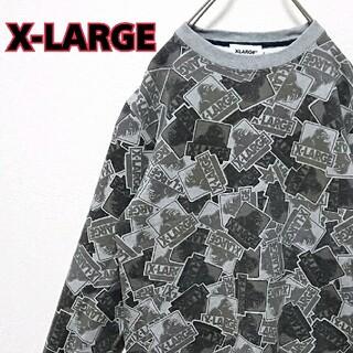 エクストララージ(XLARGE)のX-LARGE エクストララージ 総柄 ロゴ メンズ スウェット(スウェット)