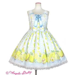 アンジェリックプリティー(Angelic Pretty)のFruity Lemonジャンパースカートアンジェリックプリティフルーティレモン(ひざ丈ワンピース)