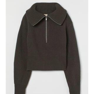 H&M 新品 ウールリブニットセーター