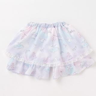 mezzo piano - メゾピアノ  新作♡バレリーナ柄キュロットスカート  130
