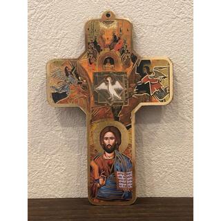 精霊鳩 板絵十字架 ●イタリア製●置物●壁掛け●インテリアにも最適(置物)