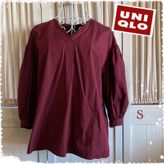 UNIQLO - UNIQLOシャツ ブラウス ボリューム袖 トップス
