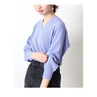 イエナ(IENA)のニット パープル ブルー 紫 青 イエナ 長袖 新品(ニット/セーター)