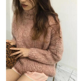 Verybrain - verybrain mohair turtle knit