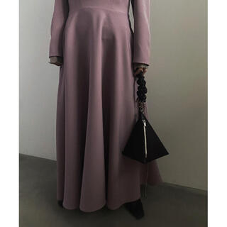 アメリヴィンテージ(Ameri VINTAGE)のSEETHROUGH SHOULDER DRESS(ミディアムドレス)