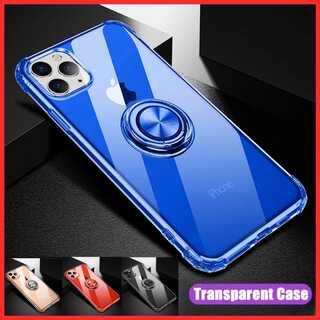 ブルー大人気 リング付き iPhone 落下防止 耐衝撃 スマホケース(iPhoneケース)