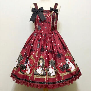 Angelic Pretty - Angelic Pretty Princess Catジャンパースカート ワイン