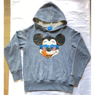 ディズニー(Disney)の【ユーズド】【ユニセックスS】ディズニー ミッキーパーカー ブルー(パーカー)