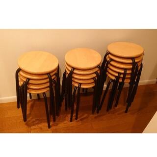 SEIKO - 木製丸椅子 日本製 SEIKO スタッキング可 スツール
