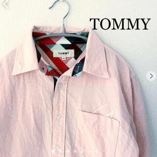 トミー(TOMMY)のTOMMY トミー 七分袖シャツ ピンク Mサイズ(シャツ)