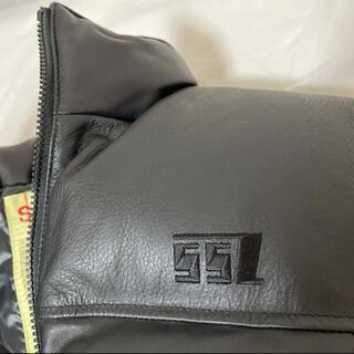 ビームス(BEAMS)のSSZ レザーダウンジャケット 黒 Sサイズ used(ダウンジャケット)