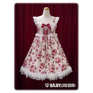 BABY,THE STARS SHINE BRIGHT - BABY シュガーブーケ柄 ロココ ジャンパースカート