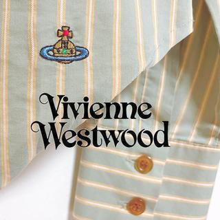 Vivienne Westwood - ヴィヴィアンウエストウッド ストライプ柄 ブラウス 長袖 レディース ロゴマーク