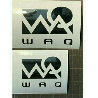 WAQ  2点 ステッカー 10.8センチ 転写