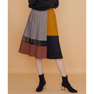 【一度のみ着用】【美品です】 UNITED TOKYO ブロックプリーツスカート