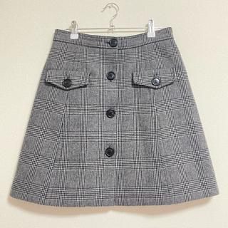 ミュウミュウ(miumiu)のmiumiu 台形スカート(ひざ丈スカート)