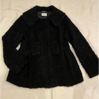 ハロッズ(Harrods)のハロッズ   襟付きショートコート ブラック 黒 3  リボン(その他)
