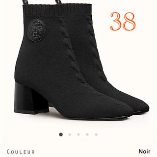 エルメス(Hermes)の⭐︎新品未使用⭐︎ エルメス ブーツ ヴォルヴェール ブラック 38サイズ(ブーツ)