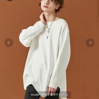 ハレ(HARE)のADRER アドラー サイドリングジップレイヤードロンT ホワイト(Tシャツ/カットソー(七分/長袖))