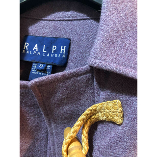 ポロラルフローレン(POLO RALPH LAUREN)のLサイズ、ラルフローレン、アメリカ製、ダッフルコート、ラベンダー色、美品です〜(ダッフルコート)