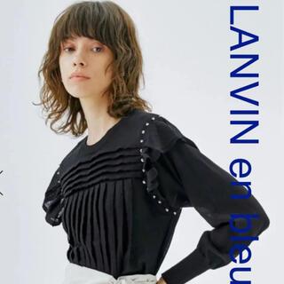ランバンオンブルー(LANVIN en Bleu)のランバンオンブルー 黒ニット(ニット/セーター)