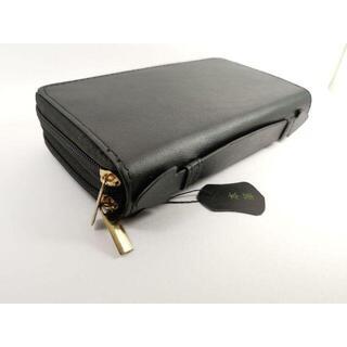 本革 ハンドバッグ 兼 長財布 大容量タイプ レザー 黒