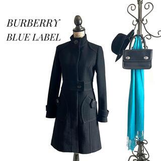 バーバリーブルーレーベル(BURBERRY BLUE LABEL)のBURBERRY BLUE LABEL バーバリー コート ブラック レディース(ロングコート)