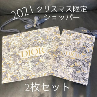Christian Dior - DIOR ディオール ショップ袋 2枚セット クリスマス 2021