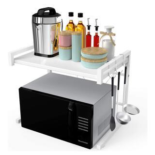 電子レンジ台 オーブン 上ラック 拡張可能【新品、送料無料】(キッチン収納)