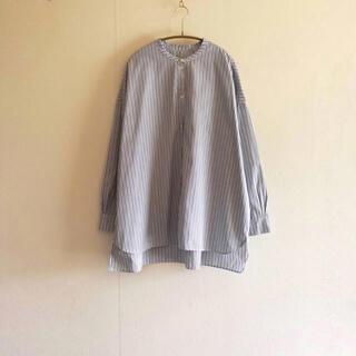 L'Appartement DEUXIEME CLASSE - ギャレゴデスポート ストライプバンドカラーシャツ  ポプリン