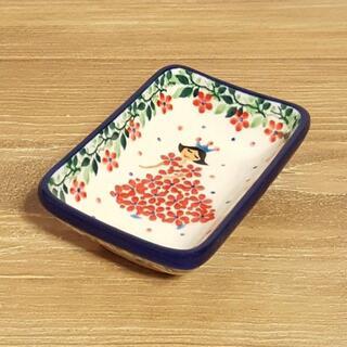 ポーランド食器◆耐熱醤油皿◆スクエアミニ皿C20-2293X