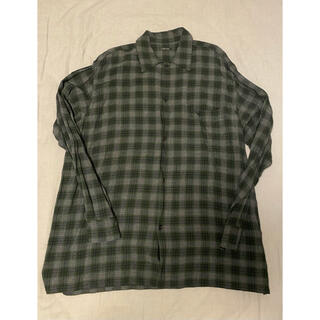 COMOLI - COMOLI レーヨンオープンカラーシャツ チェック サイズ2