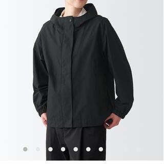 ムジルシリョウヒン(MUJI (無印良品))の無印良品 フードジャケット 黒 マウンテンパーカー(ブルゾン)