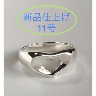 Tiffany & Co. - 【極美品 11号】ティファニー   オープンハート リング エルサ・ペレッティ