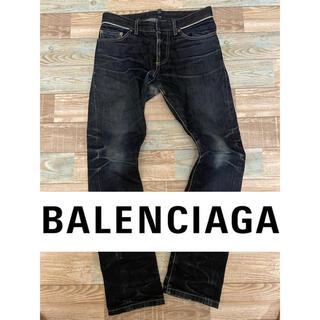 Balenciaga - BALENCIAGA デニム パンツ インディゴ ダメージ加工 28 S