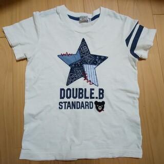 DOUBLE.B - ダブルビー ミキハウス 半袖 Tシャツ 110 白