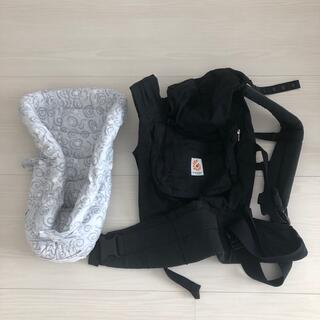 Ergobaby - エルゴ ベビー 抱っこ紐 インサート付き 黒 ブラック