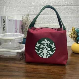 Starbucks Coffee - 【スターバックス海外限定】スタバ日本未発売 トートバック 弁当バッグ小物入れ 赤