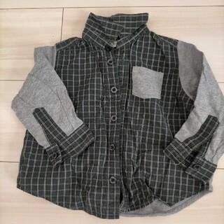 ムジルシリョウヒン(MUJI (無印良品))の無印良品 80  チェックシャツ 長袖 シャツ 男の子(シャツ/カットソー)